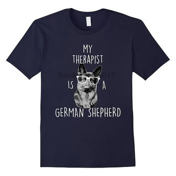 My Therapist Is A German Shepherd T-Shirt - Men's Tops