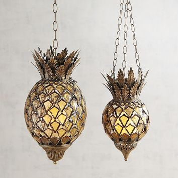 Bling Gem Boho Hanging Pineapple Lantern