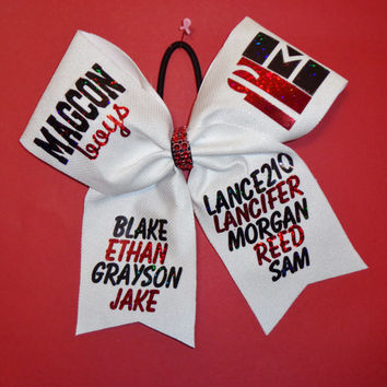 Cheer Bow We Can Add Any Names That You Would Like