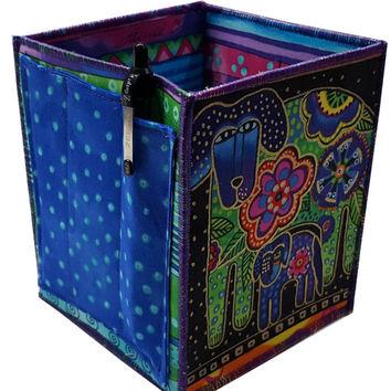 Table Top Organizer in Laurel Burch Dogs Fabrics
