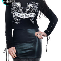 Jessi lace up sleeve top - creepy girls do it better