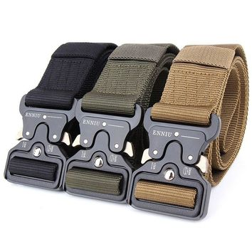 SWAT Military Equipment Knock Off Army Belt Men's Heavy Duty US Soldier Combat Tactical Belts Sturdy 100% Nylon Waistband 4.3cm