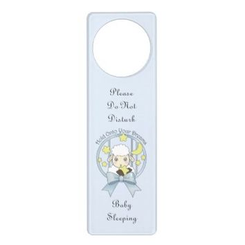 Cute Animal Door Knob Hangers for Baby Bedroom: Little Lamb, Moon, and Stars: Hold Onto Your Dreams: Baby Shower Gift Idea