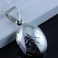 Oval Locket Sterling SilverNecklace  Solid Sterling by MonyArt