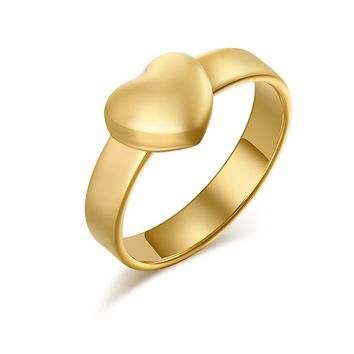 Lovely Heart Shinning Wedding Ring