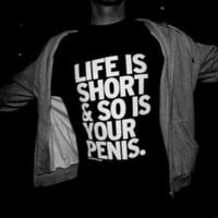 Life's short Letter T-Shirts for Women Men Black Tee Gift -80