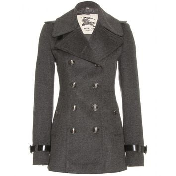 mytheresa.com -  Burberry London - VYNER WOOL PEA COAT - Luxury Fashion for Women / Designer clothing, shoes, bags