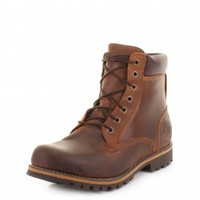 Timberland Earthkeepers Rugged 6 Inch Boots - Red/ Brown