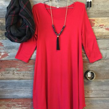 Casual for Fall Dress Red