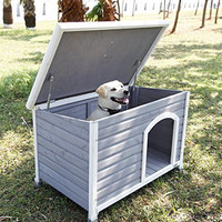 Petsfit 1036670 cm Wooden Dog House, Dog House Outdoor