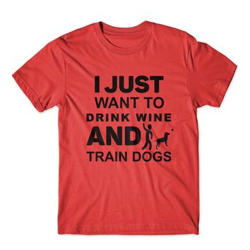 I Just Want To Drink Wine T-Shirt 100% Cotton Premium Tee