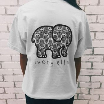 CUTE BABY ELEPHANT HIGH QUALITY PRINT T-SHIRT TOP