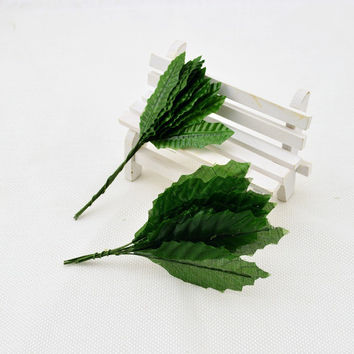 10pcs artificial flowers roses leaf silk flower leaves floral wedding decoration for home Christmas crafts packaging materials