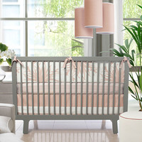 Flora Crib Set in Blush