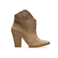 COWBOY ANKLE BOOT - Shoes - Woman - ZARA United States