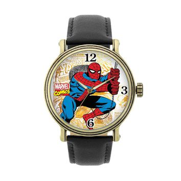 Spider-Man Leather Watch (Black)