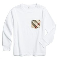 Boy's Burberry Check Print Pocket T-Shirt