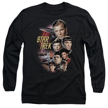 Star Trek Classic Crew Long Sleeve Adult Tee