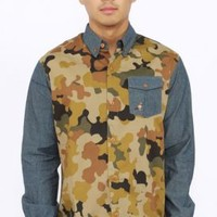 Staple, Lorca Mixed Button-Up Shirt - Staple - MOOSE Limited