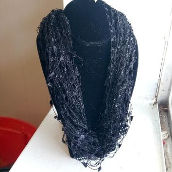 Black Yarn Necklace Magnetic