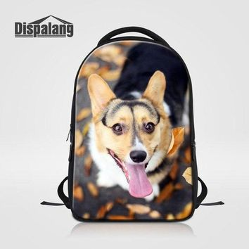 University College Backpack Dispalang Large Capacity Laptop  Cute Pet Dog Student School Bag for Teenager Boys Girls  Multi-Function AT_63_4