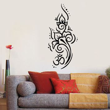 Vinyl Wall Decal Om Mantra Yoga Meditation Room Decor Stickers (2509ig)