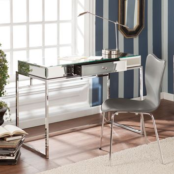 Upton Home Adelie Mirrored Writing Desk | Overstock.com Shopping - The Best Deals on Desks