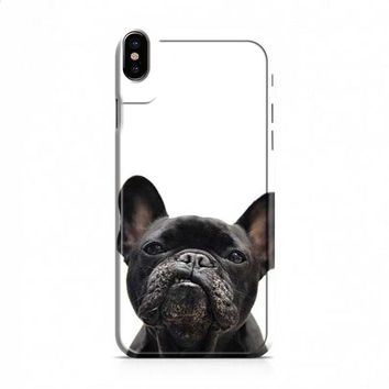 French Bulldog snarl iPhone X case