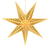 "Spritz Christmas Hanging Star 30"" - Craft/Gold"