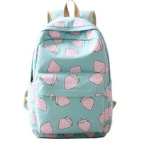 Japan and Korean Style Women Printing Backpack Schoolbag Bagpack for Teenagers School Bag Canvas Backpacks Cute Shoulder Bags