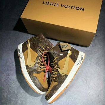 AIR JORDAN 1 & LV Louis Vuitton Joint Series Top Quality Sneakers F-A50-XYZ