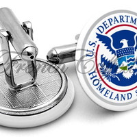 Department Homeland Security Cufflinks