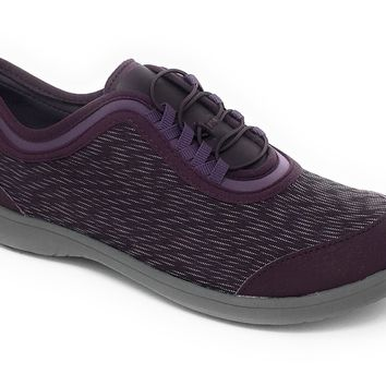 Clarks Cloudsteppers Dowling Pearl Aubergine Synthetic Lace-Up Shoes
