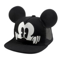 Mickey ear hats children snapback Caps baseball Cap