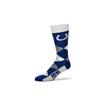 NFL Indianapolis Colts Argyle Unisex Crew Cut Socks - One Size Fits Most