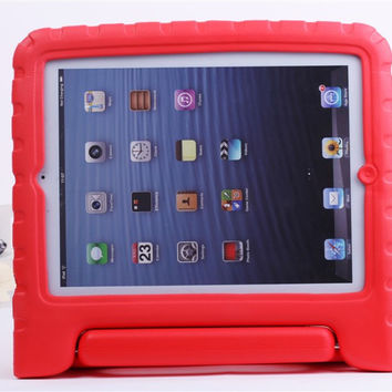 for iPad Mini1/2/3 Mini 1 Mini 2 Mini 3 Case Cover Children Kids Shock Proof Safe Soft Non-toxic Foam Handle Cover Case Stand