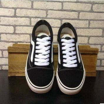 ONETOW size 35-45 Old Skool Suede Vans Canvas shoes Unisex Shoes Fashion Walking shoes brand