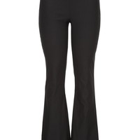 Black Pull On Stretch Bootcut Pants - Black