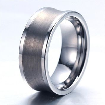 Customized Tungsten Metal Wide Band Wedding Band