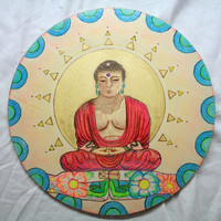Buddha - Picture on Wood