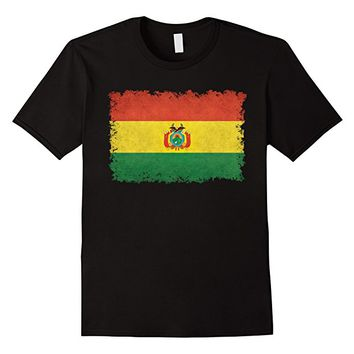 Flag of Bolivia T-Shirt in Vintage Retro Style
