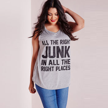 Plus size 5xl women fashion summer letters print t shirt sleeveless t shirts casual loose large size xxxxxl womens tops ZT1118