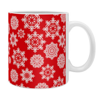 Lisa Argyropoulos Mini Flurries On Red Coffee Mug