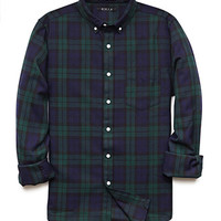Minimalist Plaid Slim Fit Shirt