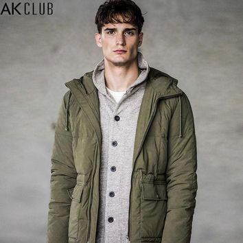Men Down Jacket 80% Grey Duck Down Content Nylon Water Repellent Fabric Quilting Men Down Coat Winter