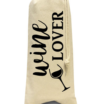 Wine lover bottle tote bag
