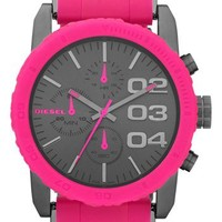 DIESEL® 'Franchise' Chronograph Silicone Bracelet Watch, 42mm   Nordstrom