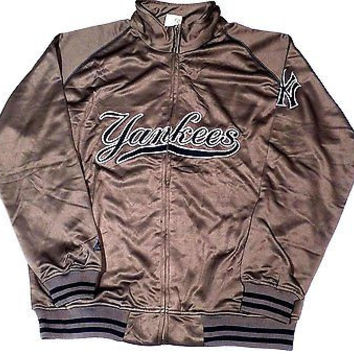 New York Yankees Majestic Tricot Track Jacket Big and Tall Size 1XL