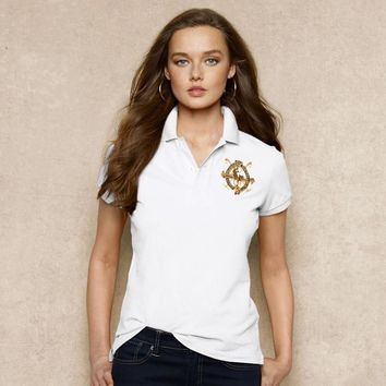 NEW POLO RALPH LAUREN SHIRT WOMEN SHORT SLEEVE T-SHIRT SIZE: S-XL-8