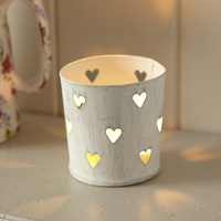 heart tealight holder,shabby chic,